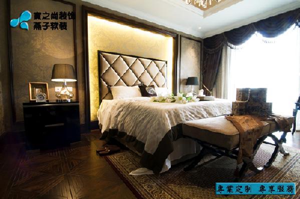 别墅 软装设计 定制家具 新古典 卧室图片来自燕子软装在南通样板房
