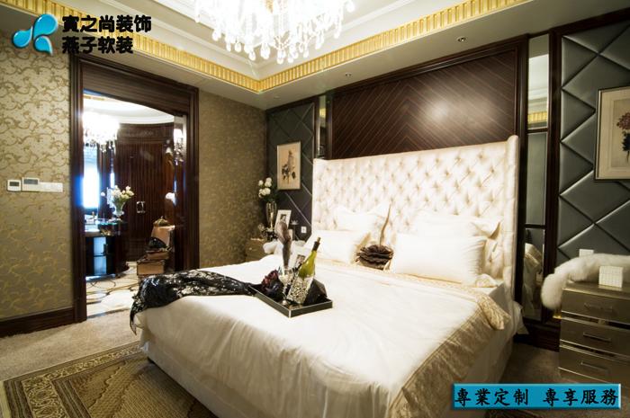 别墅 软装设计 定制家具 新古典 卧室图片来自燕子软装在南通样板房/奢华之风来袭……的分享