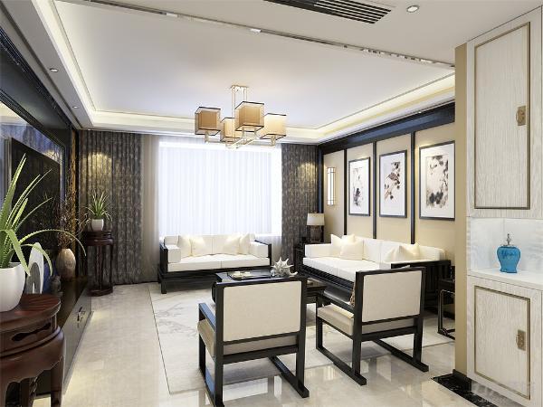 """本案设计为新中式风格,""""新中式风格""""以其通过中式风格的特征,表达对清雅含蓄、端庄丰华的东方式精神境界的追求,赢得人们对它的喜爱。"""