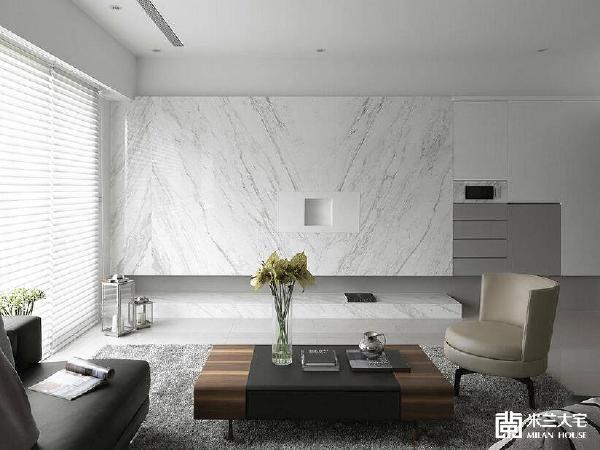 以整面大理石裁切而成,其洁净的白与独特的对花纹理,塑造空间中优雅氛围。