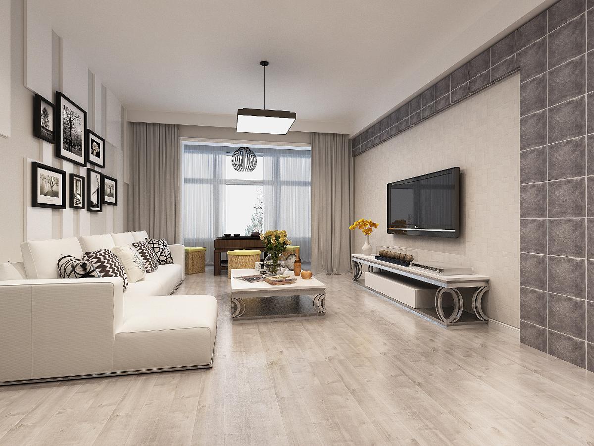 首页 装修效果图 客厅:黑白灰的色彩搭配容易营造出时尚的感觉,沙发