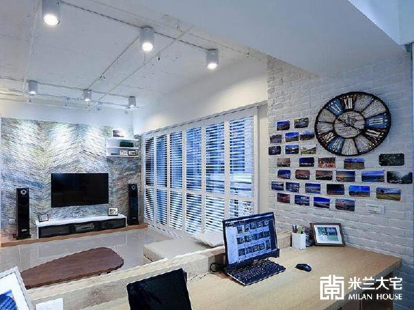 壁板上墙效果图客厅