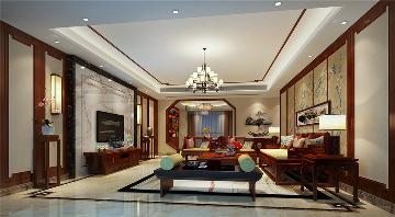 水榭花都新中式风格四居室装修