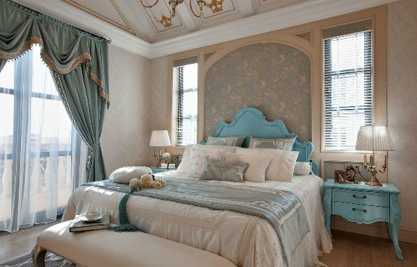 欧式 别墅 卧室图片来自上海家研装饰设计有限公司在法式独立别墅的分