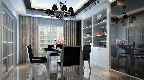 现代简约风、两居室时尚前卫餐厅效果