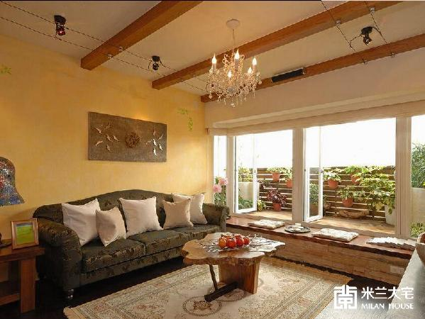 采取天然手感般的壁面铺陈,搭配温润柔和的视觉跳色,创造活泼轻盈的惬意居家氛围。