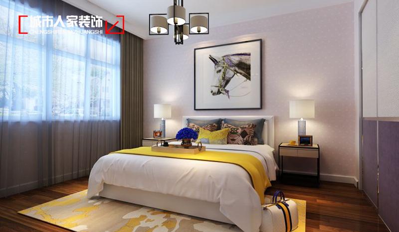 后现代风格晋阳湖壹号家装设计装修公司卧室图片