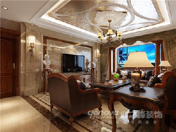 天鹅堡203平米美式风格装修效果图——太原业之峰装饰