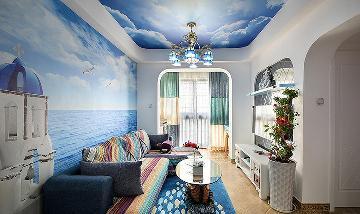 61平浪漫地中海风 小户型巧设计