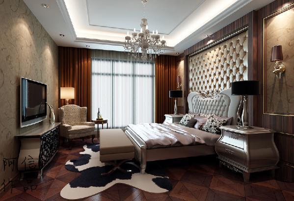 这个卧室最吸引人眼球的就是壁纸和纯色的窗帘,如此大胆的设计也是给卧室营造了不一样的视觉效果,打破传统的卧室氛围,必然让人着迷。