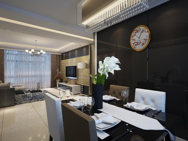 简约风格整体家装89平餐厅效果