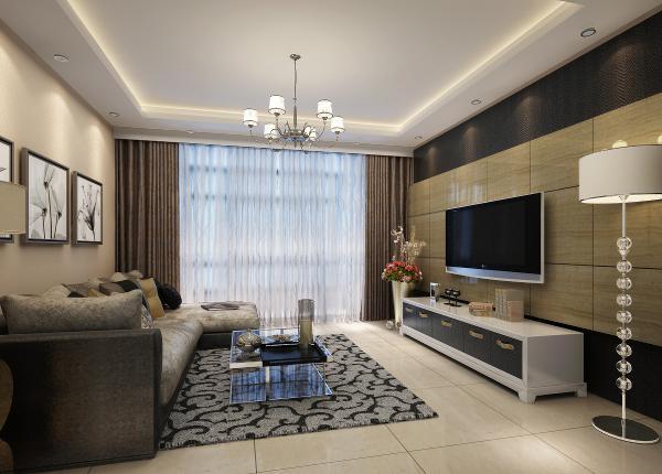简约风格整体家装89平客厅效果