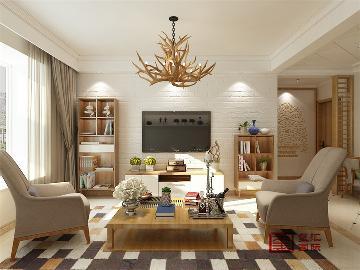 玫瑰湾100平二居室北欧风格