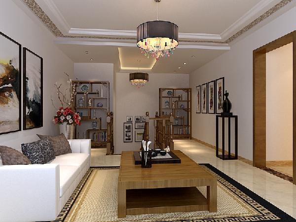 forverl 一楼客厅属于挑空格局 顶面为斜面 本案客户不想在客厅一眼