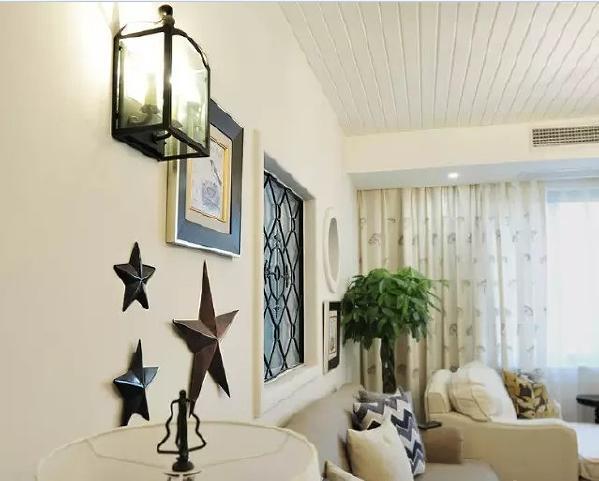 装饰物带着复古的美式情调,让客厅更有feel~