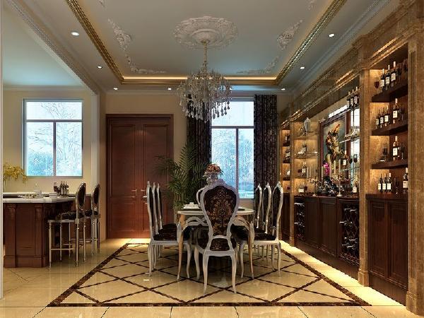 餐厅:餐厅和厨房采用开放式的欧式风格设计,体现了房主人注重沟通的生活方式.