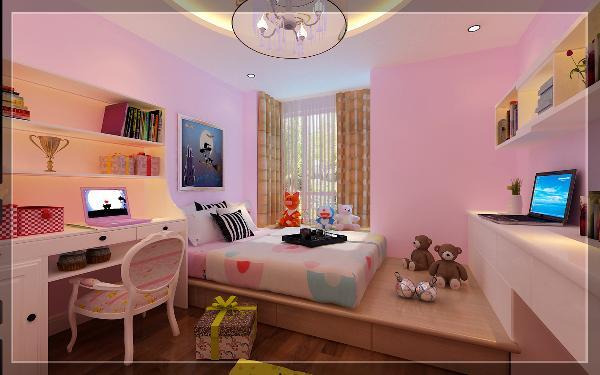 儿童房采用不同的配色,体现彰显了活泼可爱的气氛。