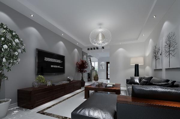 客厅:简单的色调,没有过于复杂的造型,简简单单衬托出北欧风格的原有的大自然风味,主要靠后期的家具配饰出整体效果。