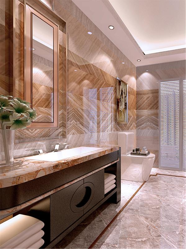 本案为泰安道五大院,本例户型为三室两厅三卫的户型,使用面积为173㎡,环境优美,为一三口之家为依据进行设计的,突出温馨和一些奢华且不是时尚质感。