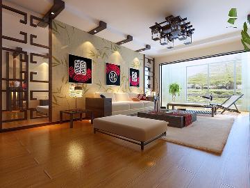 简介 御泽园140平米 中式风格高清图片