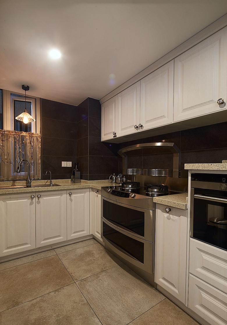 复式楼设计新中式装修新中式设计中国式装修厨房图片