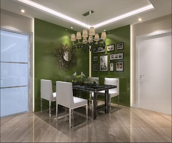 简约的吊顶设计强烈对比的两面墙漆颜色,调和的原木色地板,相互呼应,使整个空间温馨自然、简约舒适