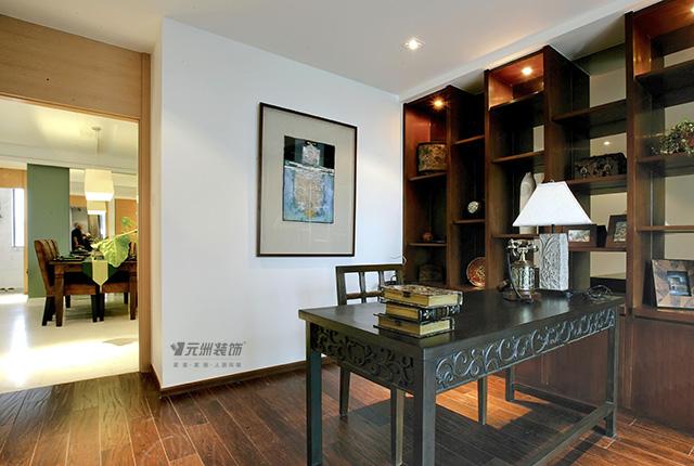三居 南亚风情 东南亚风格 书房图片来自居然元洲装饰小杨在南亚风情园-130平米东南亚风格的分享