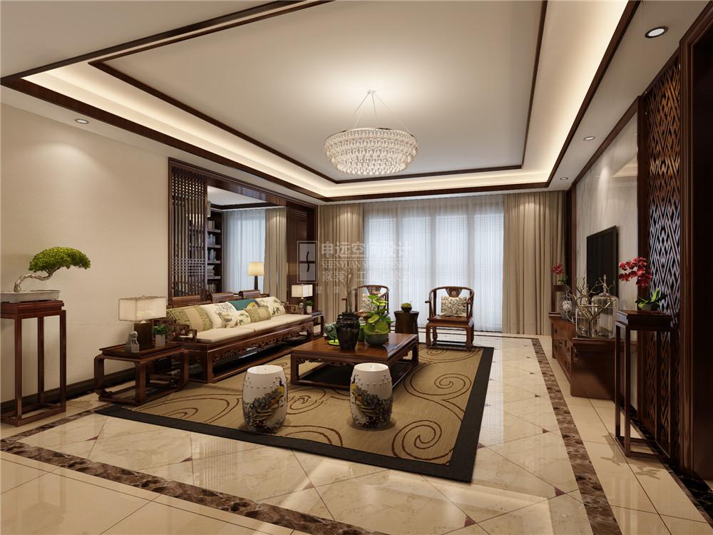 尼德兰花园 尼德兰官邸 申远 张咏 四居 公寓 中式 新中式 装修 客厅图片来自用户5616949510在尼德兰官邸  新中式风的分享