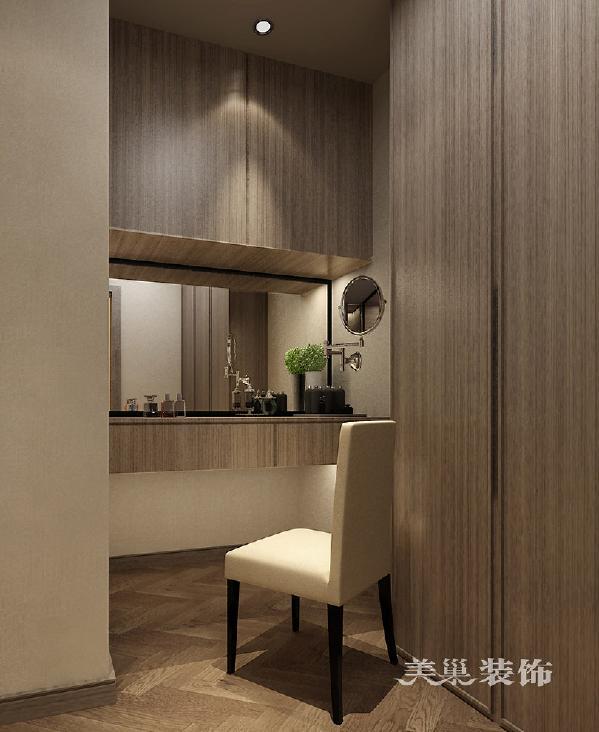 迎宾路3号装修装饰四室两厅238平现代效果图案例——衣帽间梳妆台