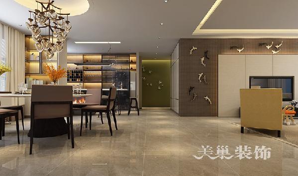 迎宾路3号装修4室2厅案例现代风格238平层——餐厅效果图