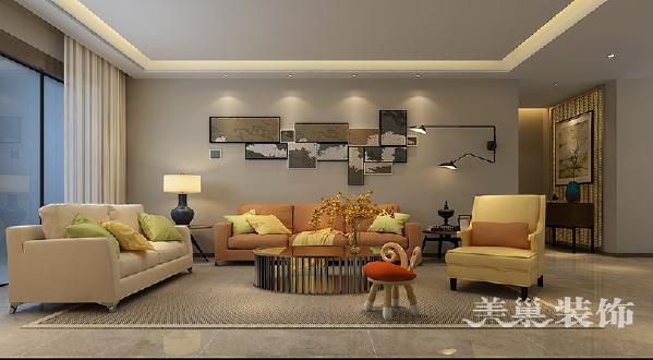 迎宾路3号装修效果图238平四房两厅案例——沙发布局