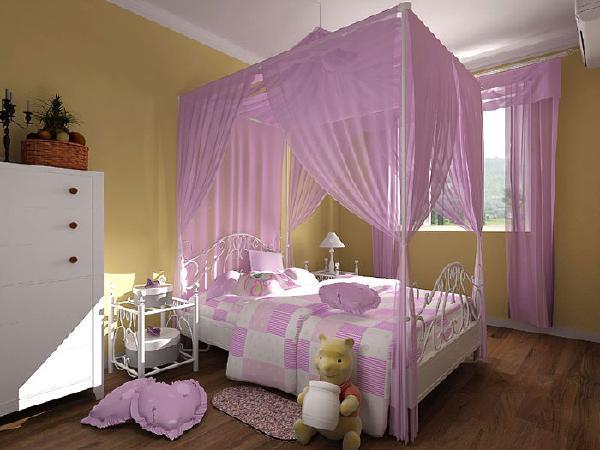 儿童房个性双人床