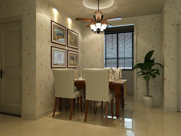 餐桌依然沿用主人的要求,选择了田园风格的餐椅,让整体有和谐感。