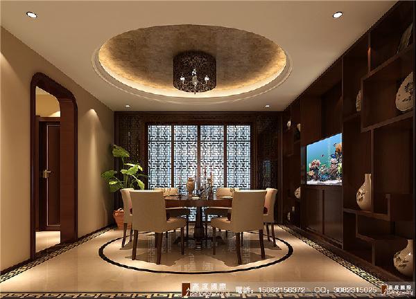中海九号公馆餐厅细节效果图---高度国际装饰设计