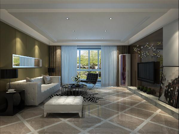 """户型上为5房2厅.满足了住用的实用功能,分区明显动静皆宜,在设计上基本保持了原户型的内""""8字""""型结构"""