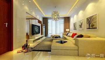 上海实创装饰两居室现代简约风