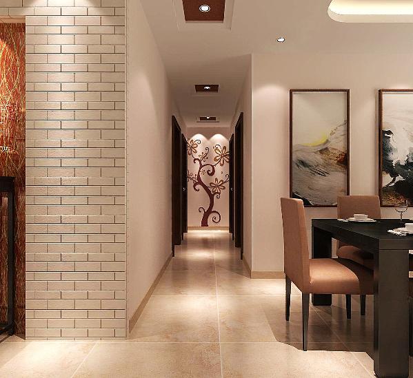 门厅:进门映入眼帘的就是客厅电视背景及餐厅的背景相连,大气稳重,我们需要空间的连续性,同时不失优雅。