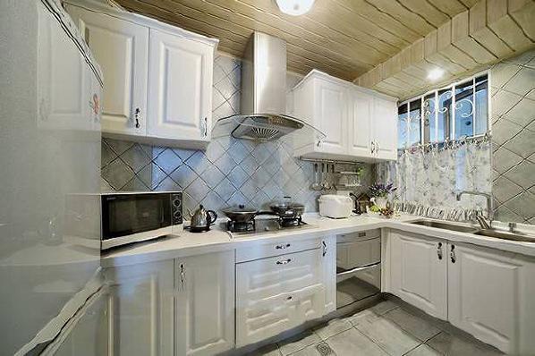 厨房拜尔整体实木橱柜图...