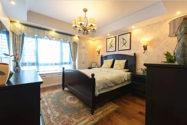 美式 田园 三居 混搭 小资 卧室图片来自实创装饰上海公司在128㎡美式田园风大三居的分享
