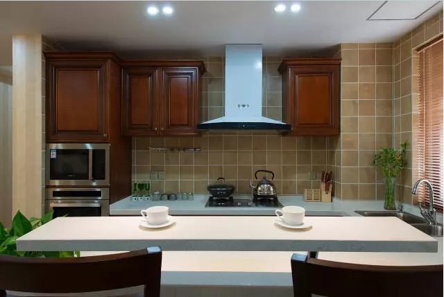 美式 田园 三居 混搭 小资 厨房图片来自实创装饰上海公司在128㎡美式田园风大三居的分享