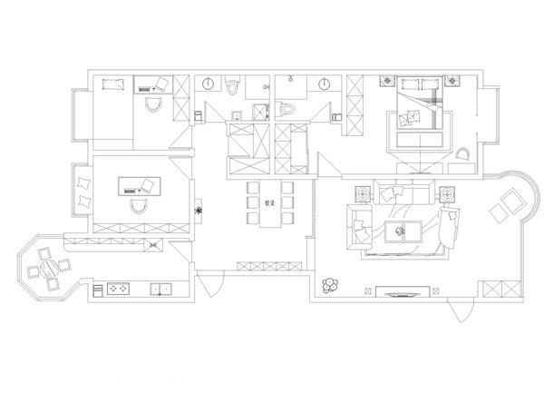 千禧学府苑180平米平面图----太原业之峰