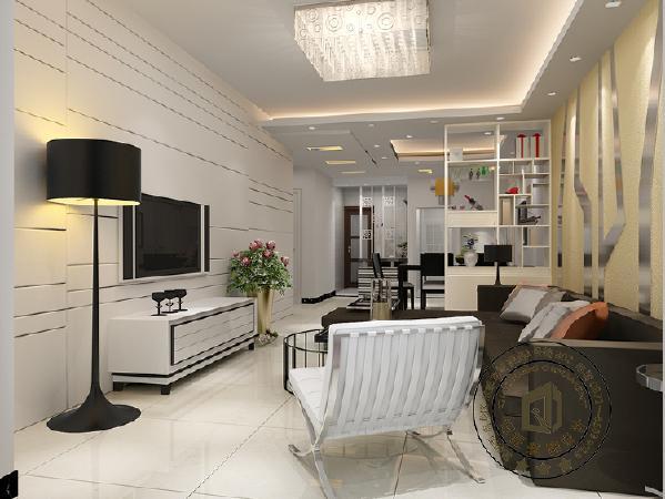 房子整体给人的感觉就是简约、干净,但它精心设计的装饰又显出活泼、典雅的个性,这也是设计师的精妙所在。