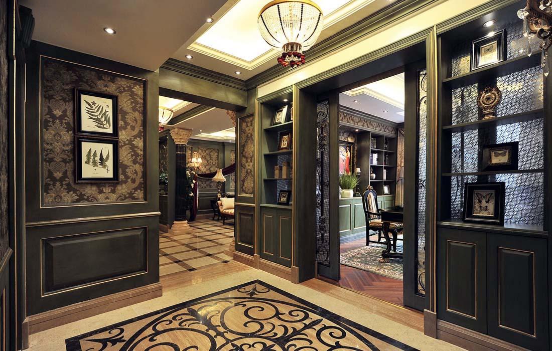 美式产权风格图片来自重庆工厂和豪装别墅店在三百平美式天地低调的阆中没别墅园有金河楼梯图片
