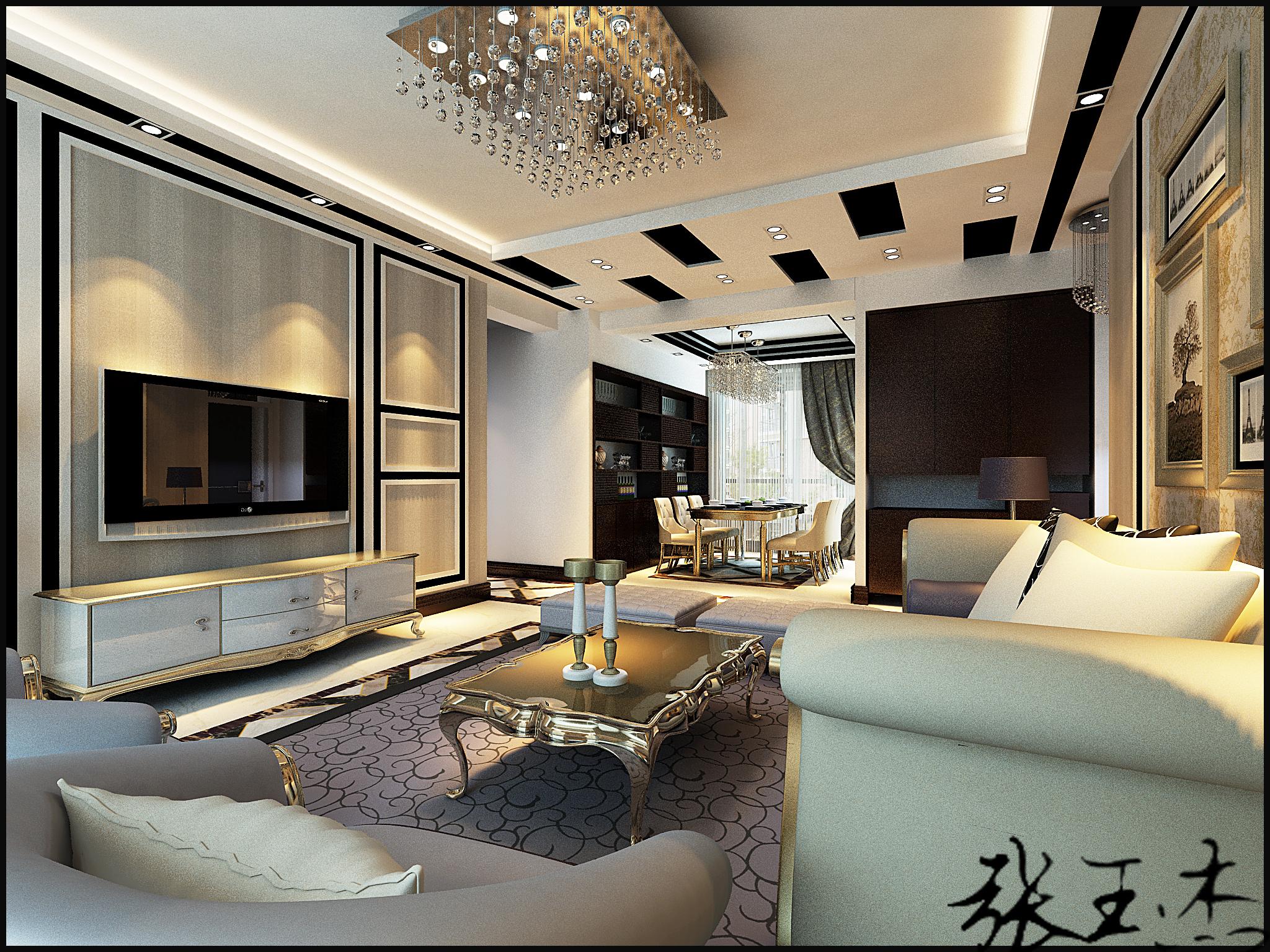 沈阳装修公 客厅图片来自百家设计小刘在泛美华庭145平后现代风格的