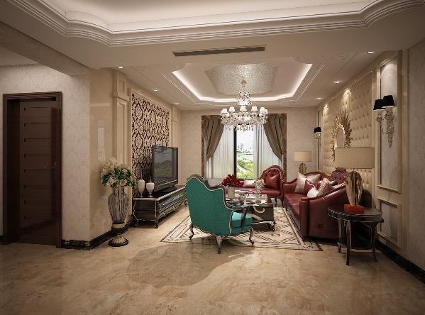 石材上墙体现高级感,整洁易于打理,白色、金色、黄色、暗红色是欧式风格中常见的主色调,少量白色糅合,使色彩看起来明亮。完美的典线,精益求精的细节处理展现装修品质。