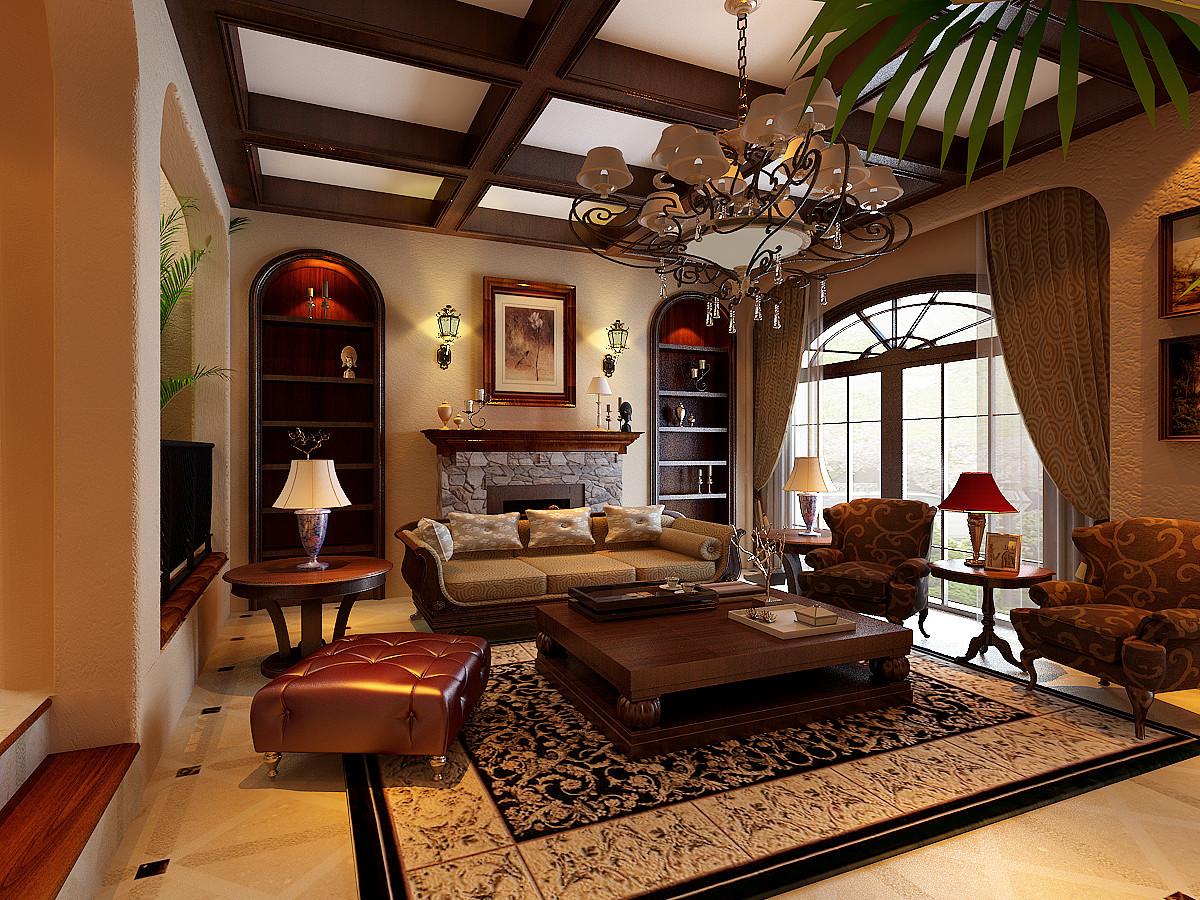 异域风情饰品,摇椅,铁艺制品等装饰物品凸显了美式风格的设计感.图片
