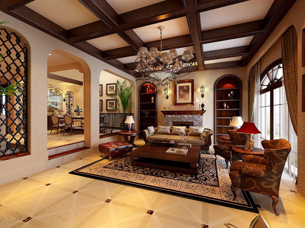 别墅美式风格装修设计龙湖香醍客厅