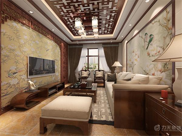 这套户型采用中式风格。中式风格是以宫廷建筑为代表的中国古典建筑的室内装饰设计艺术风格,气势恢弘、壮丽华贵。