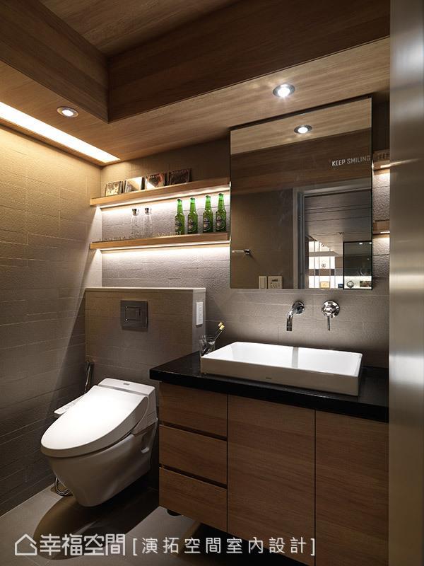 透过细心缜密的设计规划,除了能让盥洗动作更流畅便利之外,也能使卫浴空间的清洁工作更加轻松简单。