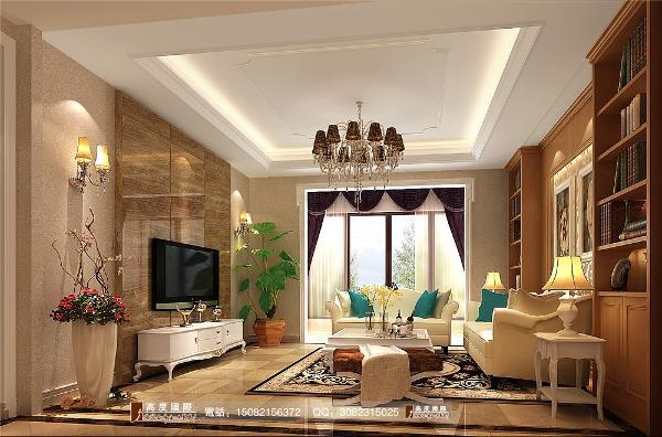 和泓半山客厅细节效果图--成都高度国际装饰设计